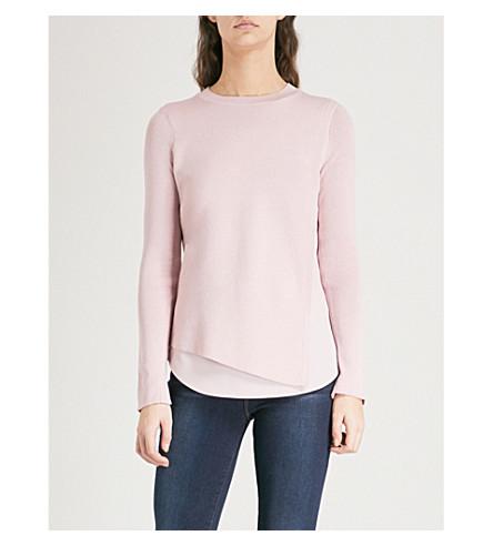 TED BAKER Delange knitted overlay jumper (Baby+pink