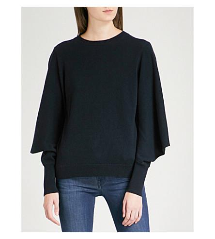 TED BAKER Popsah oversized cashmere jumper (Navy