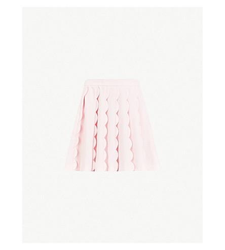 TED BAKER Scalloped woven mini skirt (Baby+pink