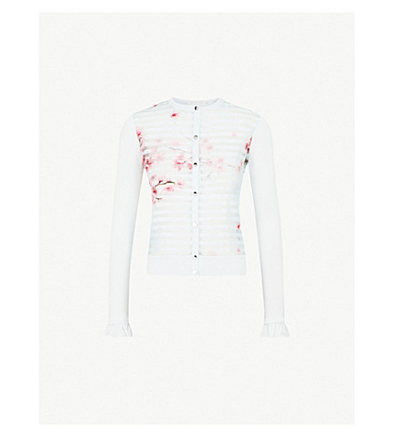 TED BAKER Blossom-detail knitted cardigan (Mint