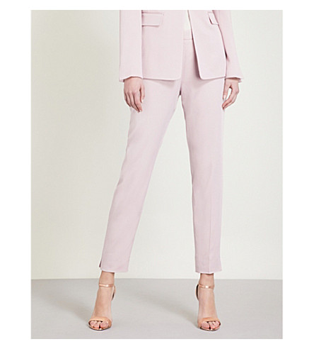 TED BAKER Tapered crepe trousers (Dusky+pink