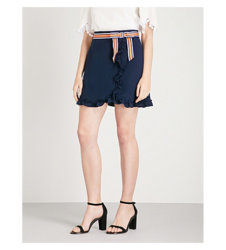 TED BAKER Bow woven mini skirt (Navy
