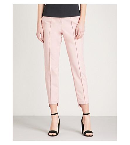 TED BAKER Anett stepped-hem skinny cotton-blend trousers (Baby+pink