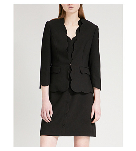 TED BAKER Rubeye woven blazer (Black