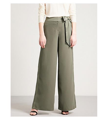 TED BAKER Wide-leg crepe trousers (Dark+green