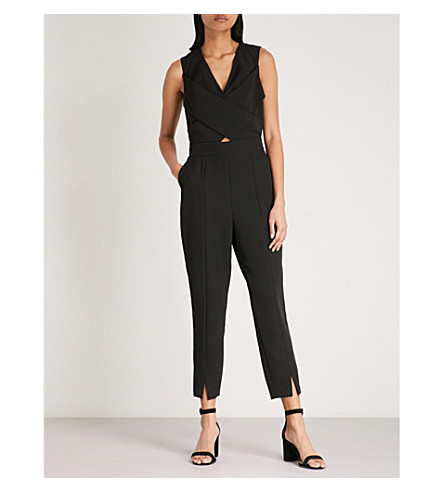 TED BAKER Kleea wrap-over woven jumpsuit (Black
