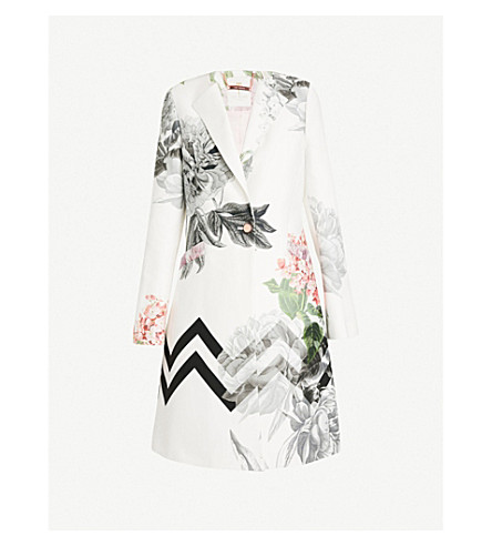 TED BAKER Palace Gardens stretch-cotton coat (White