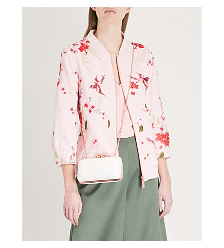 TED BAKER Blossom stretch-jersey bomber jacket (Baby+pink