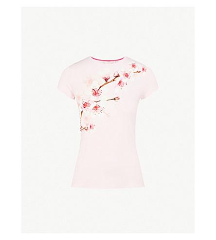 TED BAKER Bluuma jersey T-shirt (Light+pink