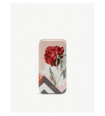 TED BAKER Carolyn floral iPhone 6/6s/7 mirror case (Dusky+pink