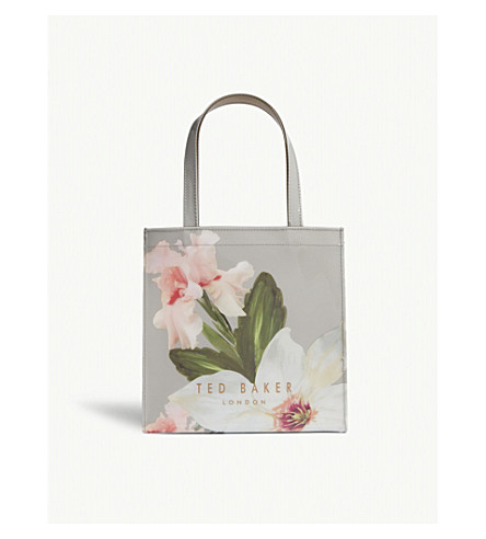 TED BAKER Chatsworth Bloom small icon shopper (Mid+grey