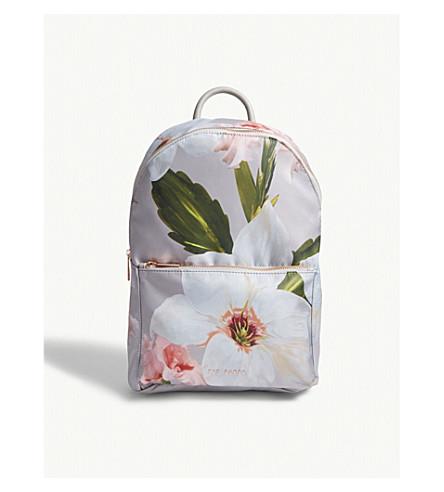 TED BAKER Osmoni floral print backpack (Mid+grey