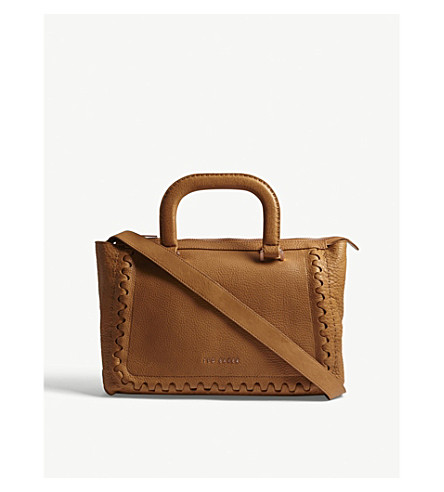 TED BAKER KEZIAH leather tote (Tan