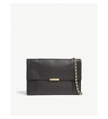 TED BAKER Parson metallic leather cross-body bag (Black
