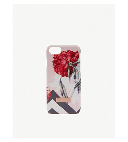 TED BAKER Palace Garden iPhone clip case (Dusky+pink