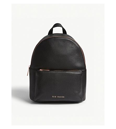 TED BAKER Pearen leather backpack (Black