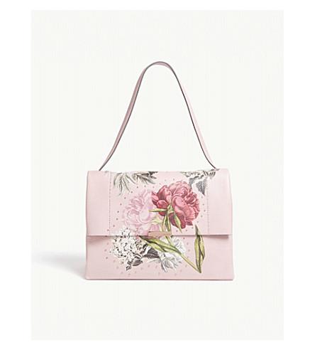 TED BAKER Peonii palace gardens leather shoulder bag (Dusky+pink