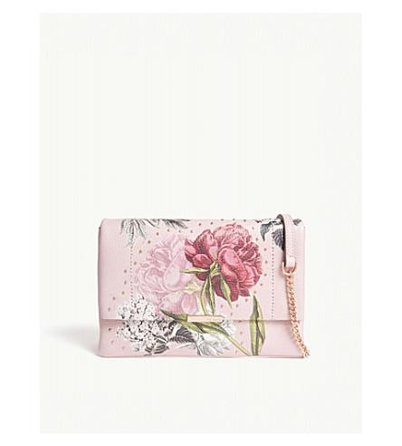 TED BAKER Ploomi Palace Gardens leather shoulder bag (Dusky+pink