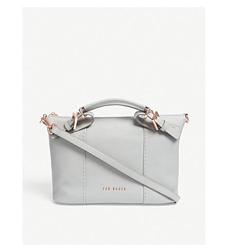 TED BAKER Salbett bridle leather shoulder bag (Mid+grey