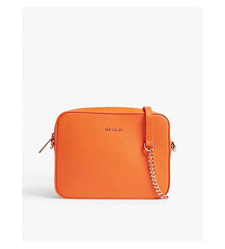 TED BAKER Selia leather camera bag (Orange