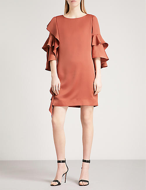 TED BAKER Eicio frill tunic crepe dress