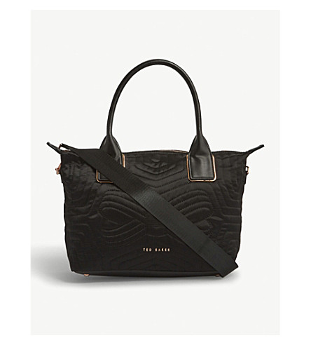 TED BAKER Akebia quilted tote bag (Black
