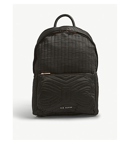 TED BAKER Akija quilted nylon backpack (Black