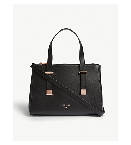 TED BAKER Audreyy grained leather tote (Black