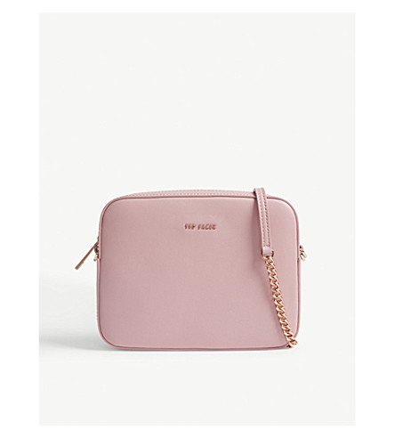 TED BAKER Amora tassel leather camera bag (Dusky+pink