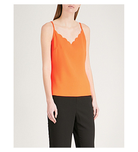 TED camisole Orange BAKER crepe TED Scalloped BAKER rP6x0pqCr