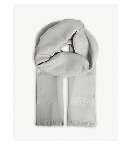 TED BAKER Erinn metallic scarf (Mid+grey