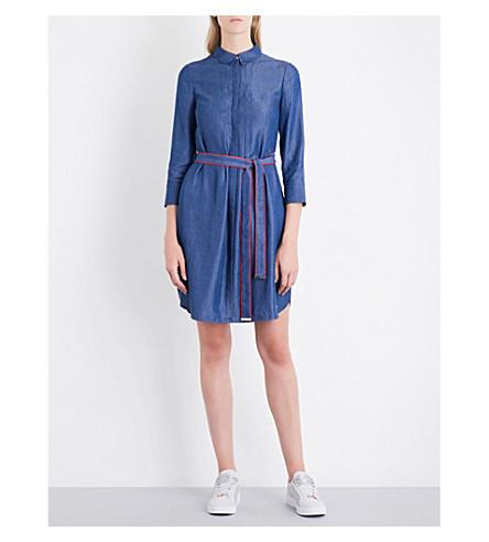TED BAKER Chambray shirt dress (Mid+wash