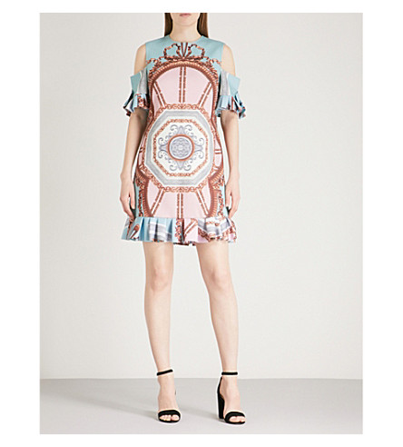 TED BAKER Versailles crepe dress (Teal