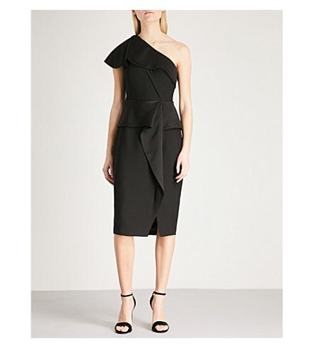 TED BAKER Pana one-shoulder crepe dress (Black