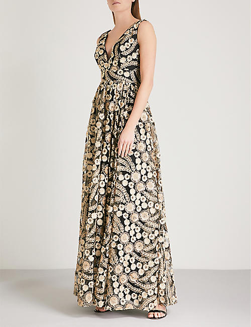 TED BAKER Reeda embroidered maxi dress