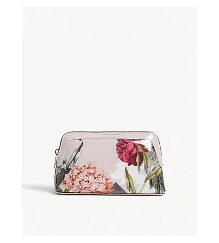 TED BAKER Palace gardens makeup bag (Dusky+pink
