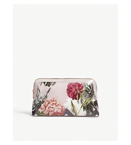 TED BAKER Palace Gardens wash bag (Dusky+pink