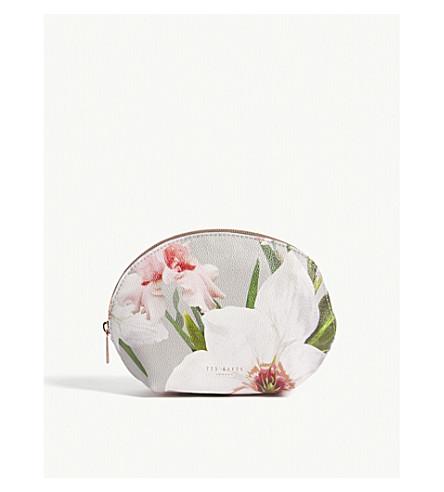 TED BAKER Margita floral print make up bag (Mid+grey