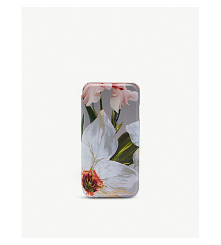 TED BAKER ROSAMON Chatsworth bloom clip-on Apple iPhone case (Mid+grey