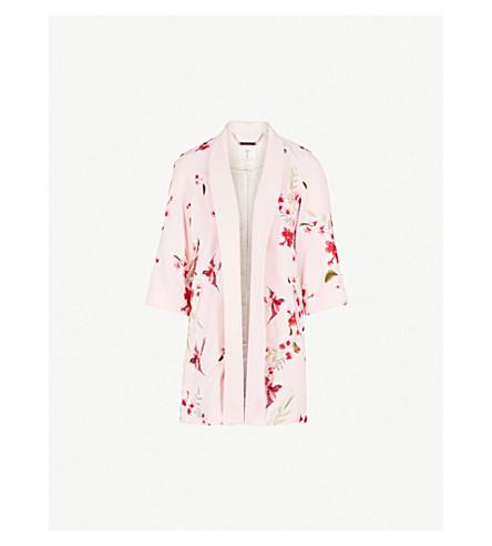 TED BAKER Isolede embroidered woven kimono jacket (Light+pink