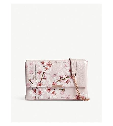 TED BAKER Jayy leather cross-body bag (Light+pink