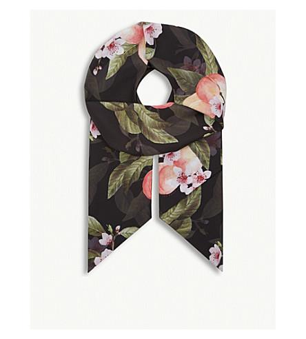 TED BAKER Priim skinny scarf (Black