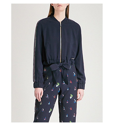 TED BAKER Tracksuit drawstring jacket (Navy