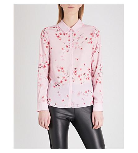 TED BAKER Floral blossom crepe shirt (Light+pink