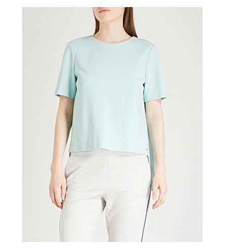 TED BAKER Pleated cotton top (Mint