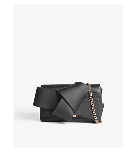 TED BAKER Asterr leather clutch bag (Black