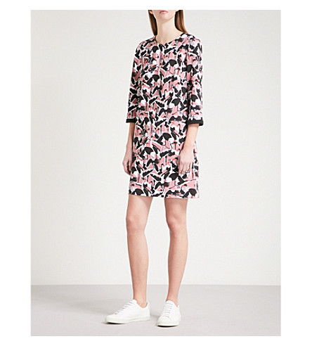 TED BAKER Colour by Numbers Queta jersey shift dress (Dusky+pink