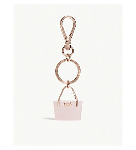 TED BAKER Berna shopping bag keyring (Light+pink