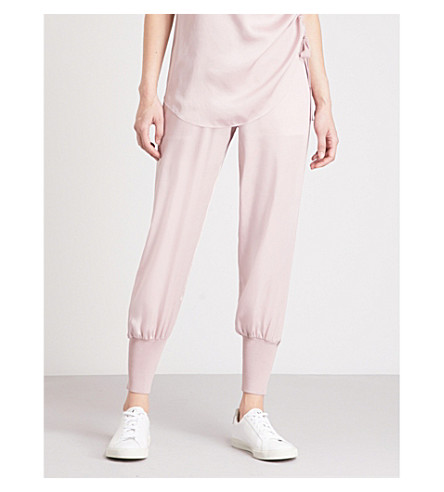 TED BAKER Ted Says Relax Aibrey relaxed-fit satin jogging bottoms (Dusky+pink