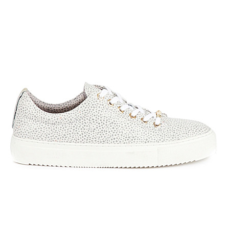 TED BAKER Colour by Numbers pebble-print leather trainers (White
